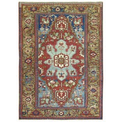 Early 20th Century Rare Size Antique Northwest Persian Serapi Rug