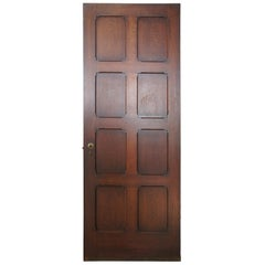 Early 20th Century Reclaimed Spanish Revival Solid Oak Panel Door