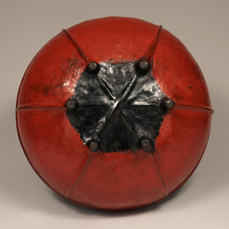 Burmese Early 20th Century Red Lacquered Offering Bowl, Burma For Sale