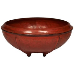 Early 20th Century Red Lacquered Offering Bowl, Burma