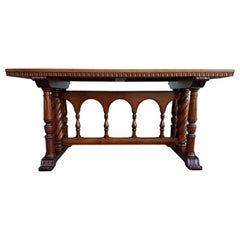 Early 20th Century Refectory or Library Table