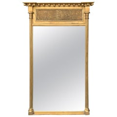 Early 20th Century Regency Style Giltwood Borghese Mirror, Labeled
