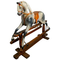 Early 20th Century Rocking Horse by Lines Brothers