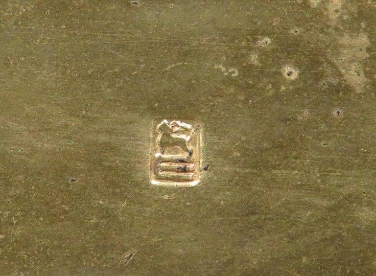 Early 20th Century Rococo Revival Gilt Bronze & Enamel Jewellery Casket For Sale 5