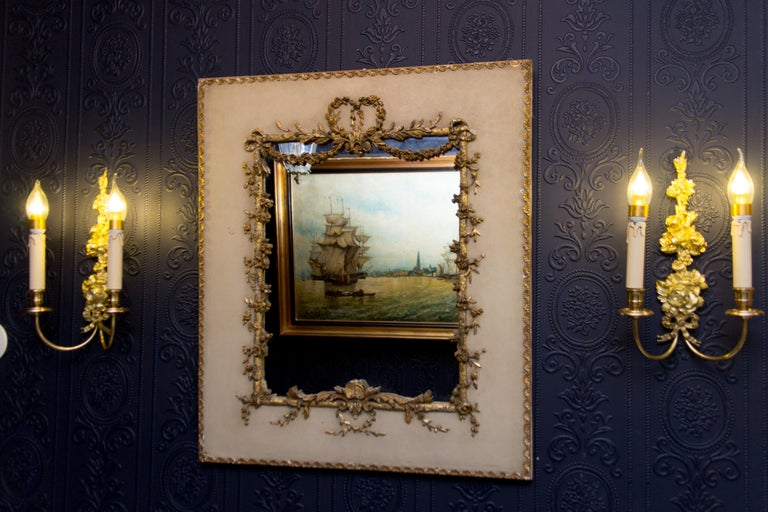 Gesso Early 20th Century Rococo Style Mirror or Picture Frame For Sale