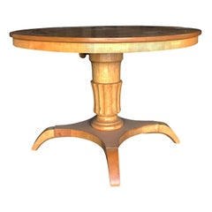 Early 20th Century Round Pedestal Table