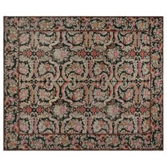 Early 20th Century Russian Bessarabian Floral Handmade Wool Rug
