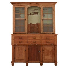 Early 20th Century Rustic Breakfront Cabinet