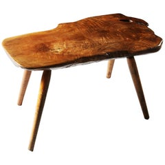 Early 20th Century Rustic English Elmwood Bench or Table