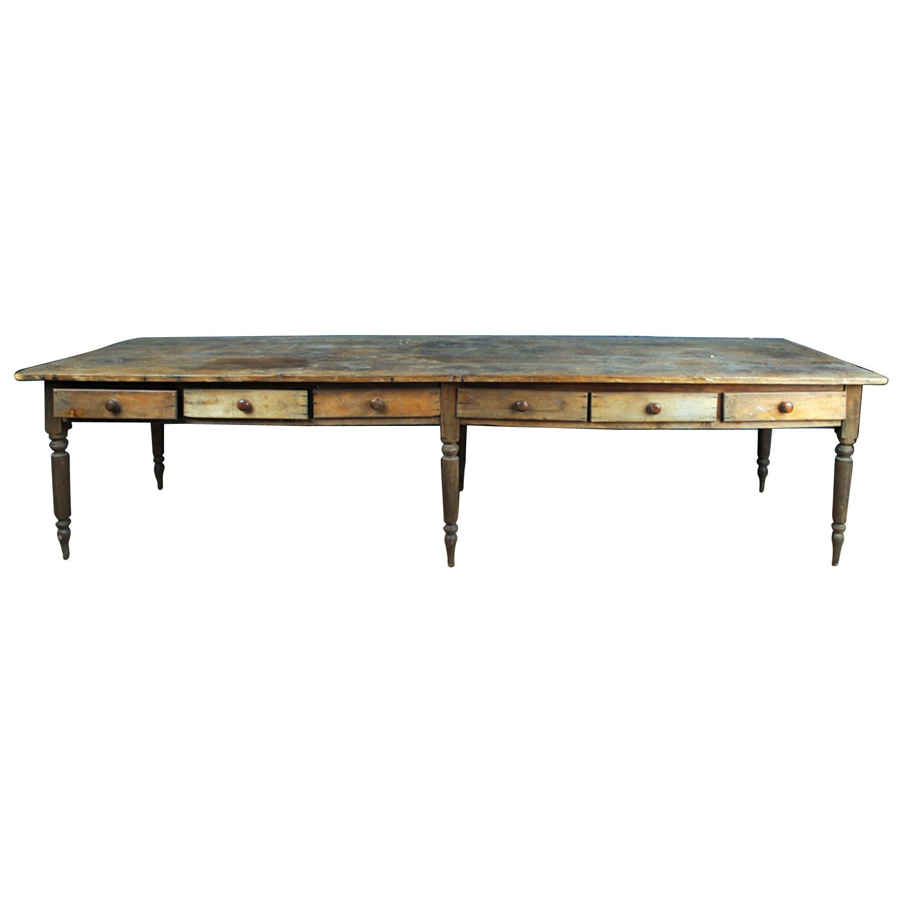 Early 20th Century Rustic Farm Table