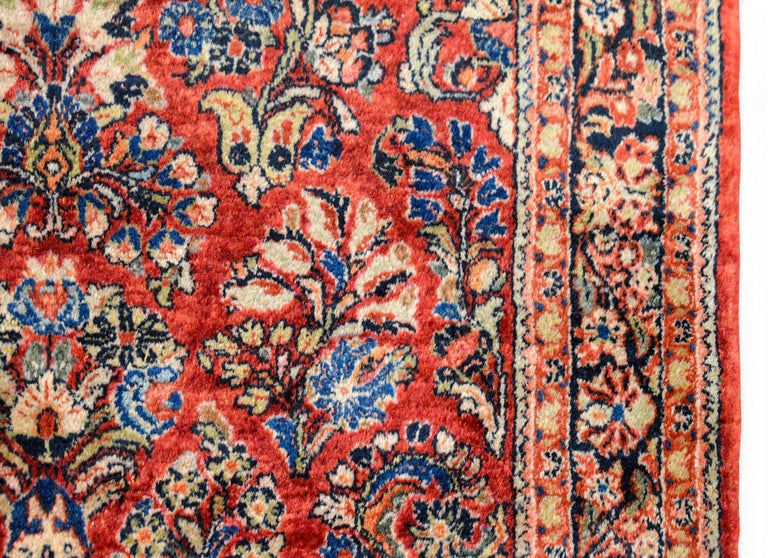 Wool Early 20th Century Sarouk Rug For Sale