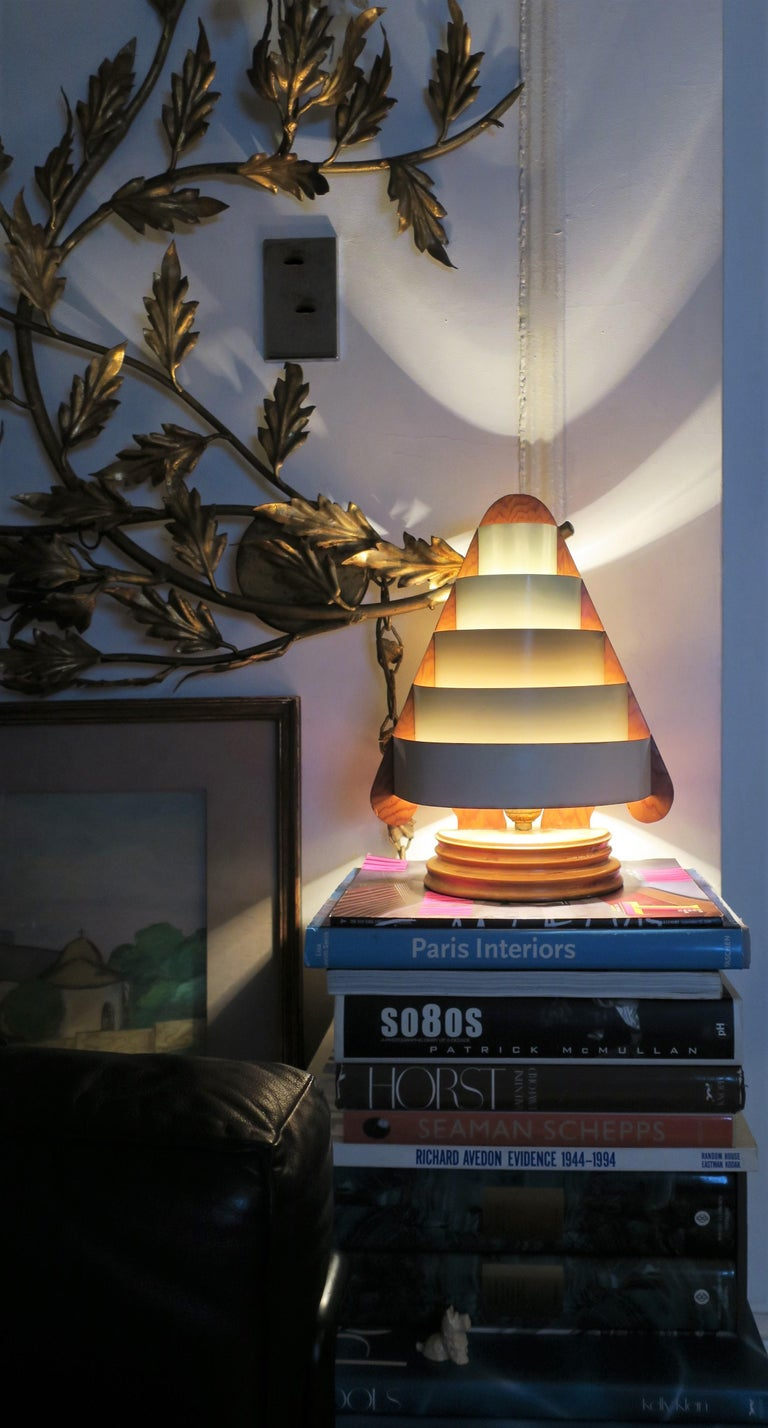 Metal Art Deco Modern Desk or Table Lamp For Sale
