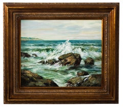 Early 20th Century Seascape Oil on Canvas