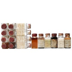 Early 20th Century Selection of Eighteen Glass Vials Sugar Samples