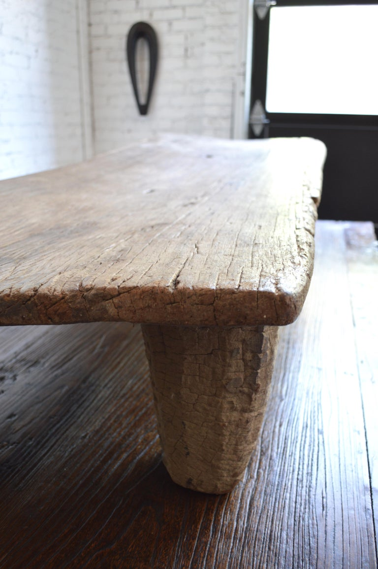Early 20th Century Senufo Daybed / Bench/Coffee Table in Bleached Weathered Wood 2