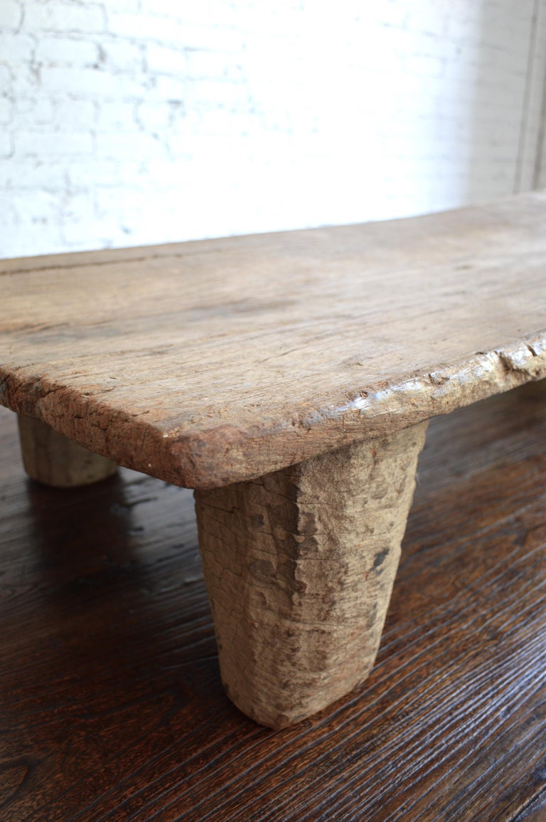 Early 20th Century Senufo Daybed / Bench/Coffee Table in Bleached Weathered Wood 3