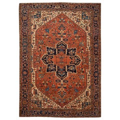 Early 20th Century Serapi Wool Rug