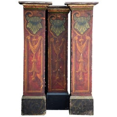 Early 20th Century Set of 3 English Fairground Pillars in Original Condition