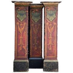 Early 20th Century Set of 3 English Fairground Pillars in Original Condition