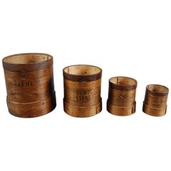 Early 20th Century Set of Four Grain Measures