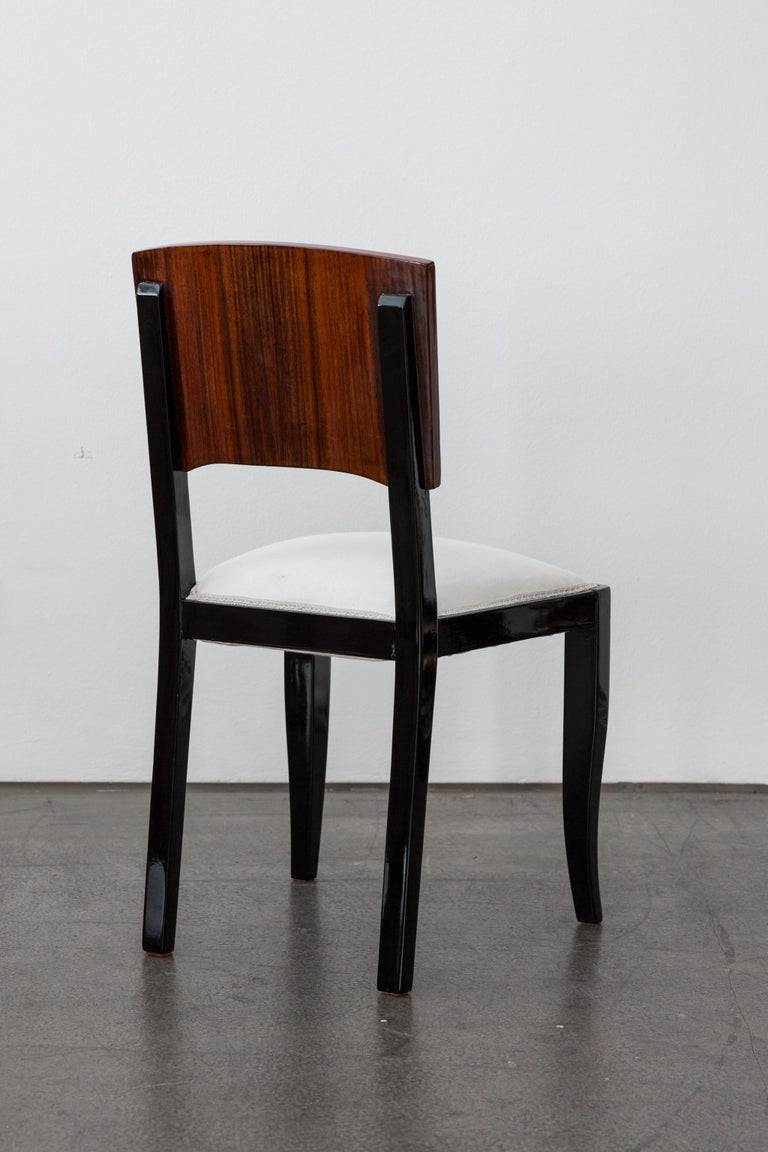 Mid-20th Century Early 20th-Century Set of Six French Art Deco Dining Chairs Restored Conditions For Sale