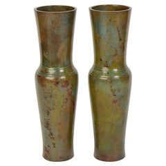 Early 20th Century, Showa, A Pair of Japanese Bronze Vases