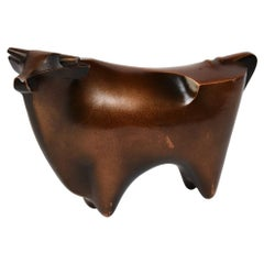 Early 20th Century, Showa, Japanese Bronze Bull