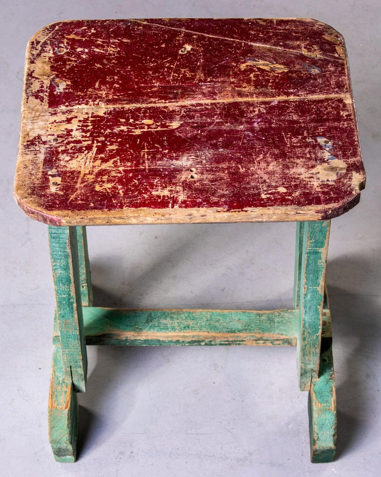 English Early 20th Century Side Table with Original Paint For Sale