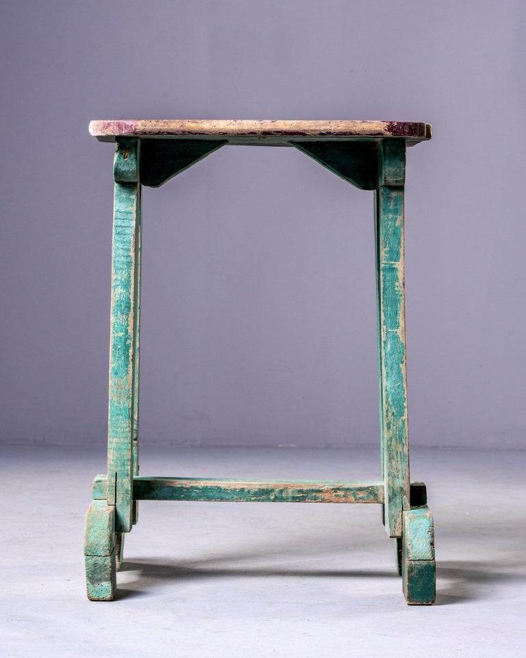 Early 20th Century Side Table with Original Paint For Sale 1