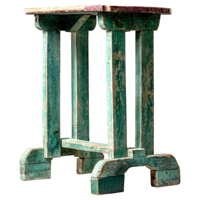 Early 20th Century Side Table with Original Paint For Sale