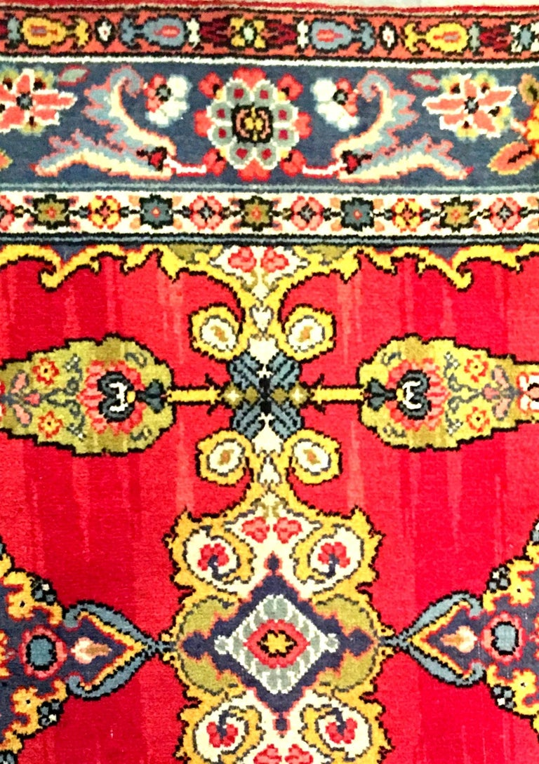 Early 20th Century Silk & Wool Paisley Blossom Rug For Sale 4