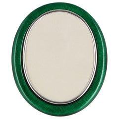 Early 20th Century Silver and Enamel Photo Frame Austrian, circa 1910-1915