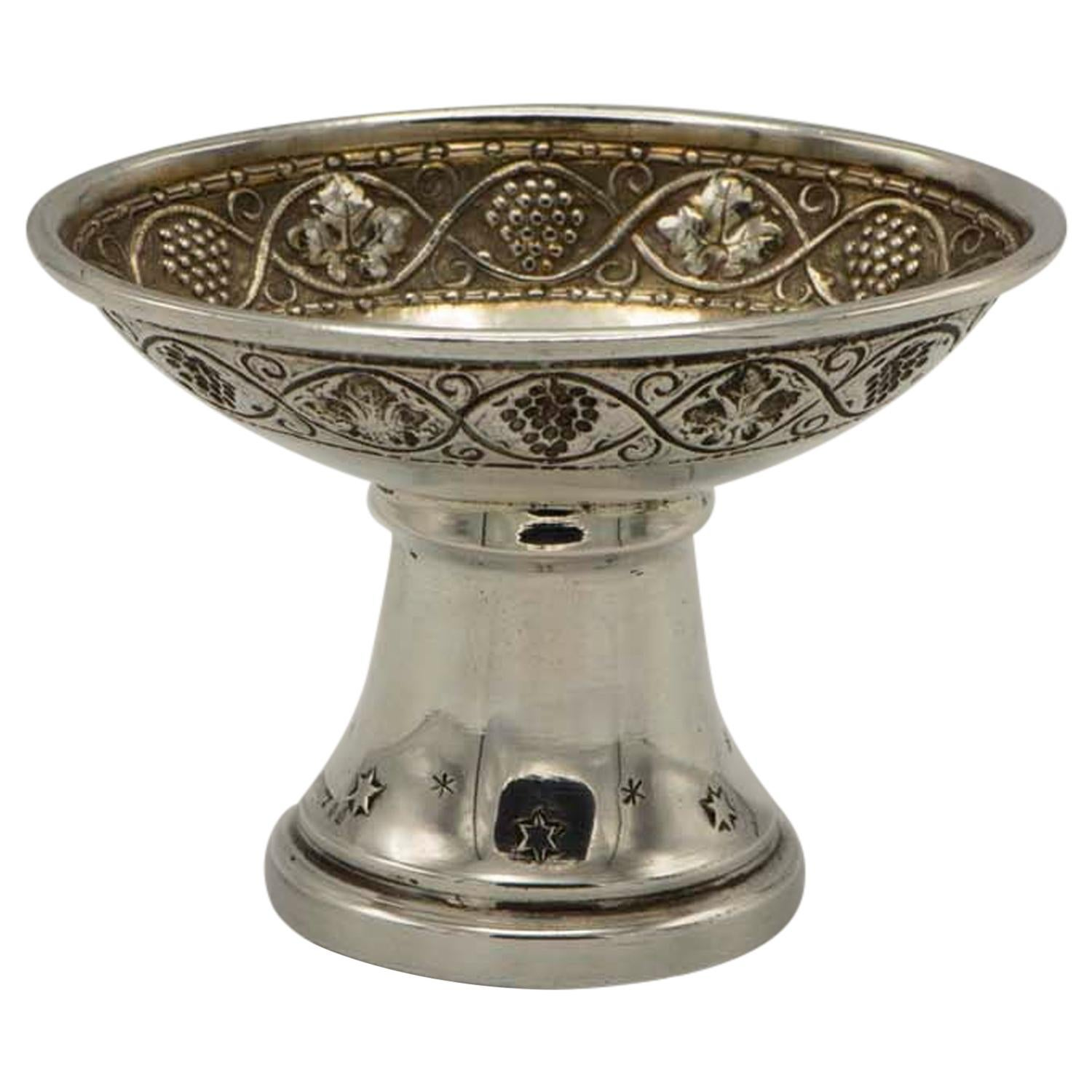 Early 20th Century Silver Charoset Dish for Passover by Felix Horovitz