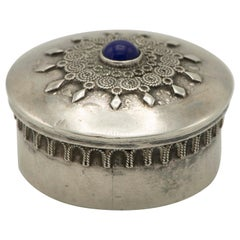 Early 20th Century Silver Pill Box by Bezalel School, Jerusalem