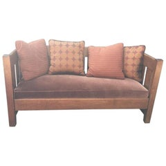Traditional Prairie Style Arts and Crafts Sofa Phoenix Furniture Company