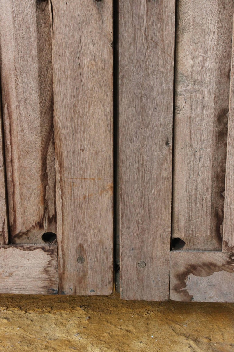 Early 20th Century Solid Mesquite Wood Door Found in Western México For Sale 5