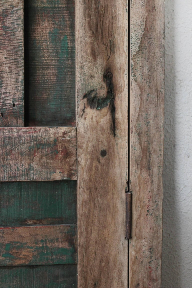 Mexican Early 20th Century Solid Mesquite Wood Door Found in Western México For Sale