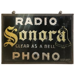 Early 20th Century Sonora Advertising Plate, 1920s