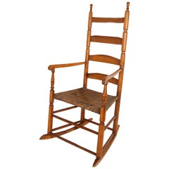 Early 20th Century South West Ladder High Back Rocking Chair