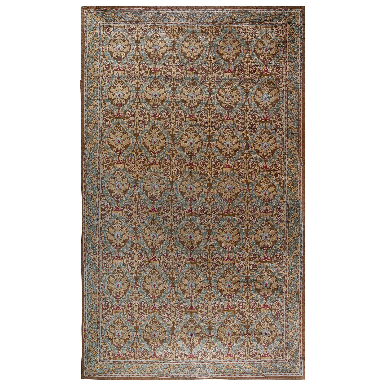 Early 20th Century Spanish Handmade Wool Rug