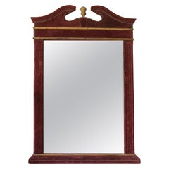 Early 20th Century Spanish Parcel-Gilt and Red Velvet Mirror