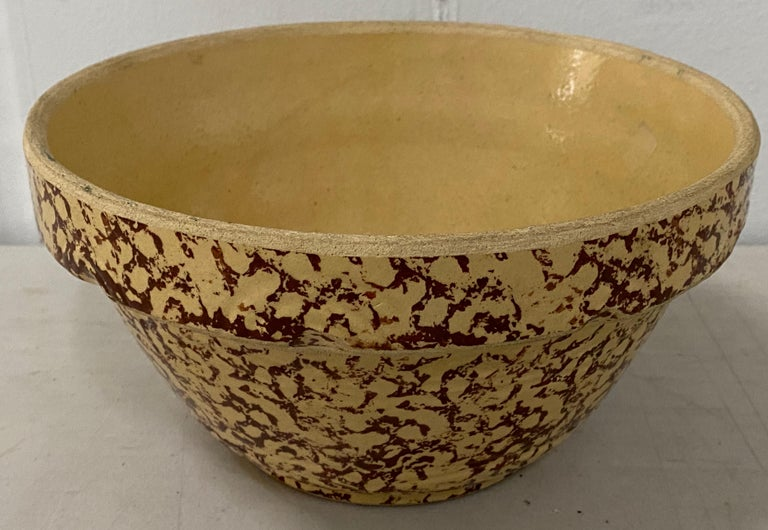 Early 20th century spongeware stoneware bowl