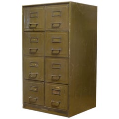 Early 20th Century Steel Double File Cabinet, circa 1940s