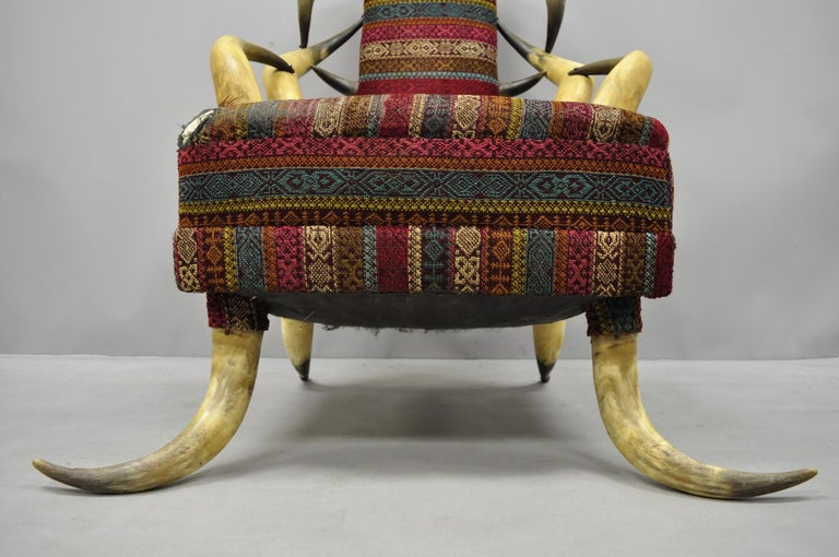 American Early 20th Century Steer Horn Parlor Chair For Sale