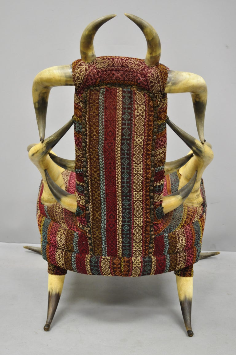 Early 20th Century Steer Horn Parlor Chair For Sale 4