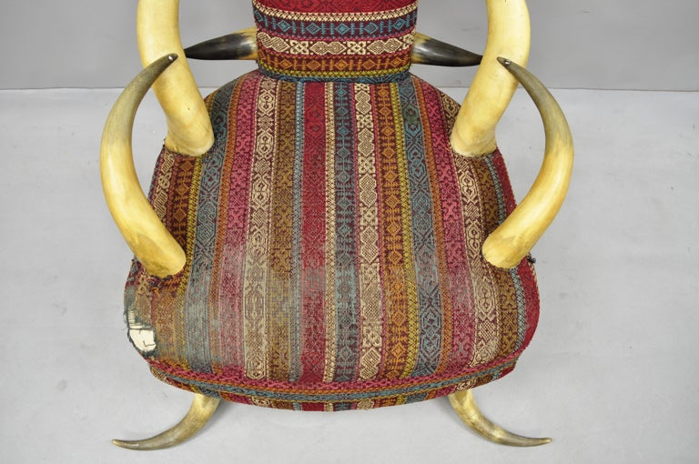 Early 20th Century Steer Horn Parlor Chair For Sale 5