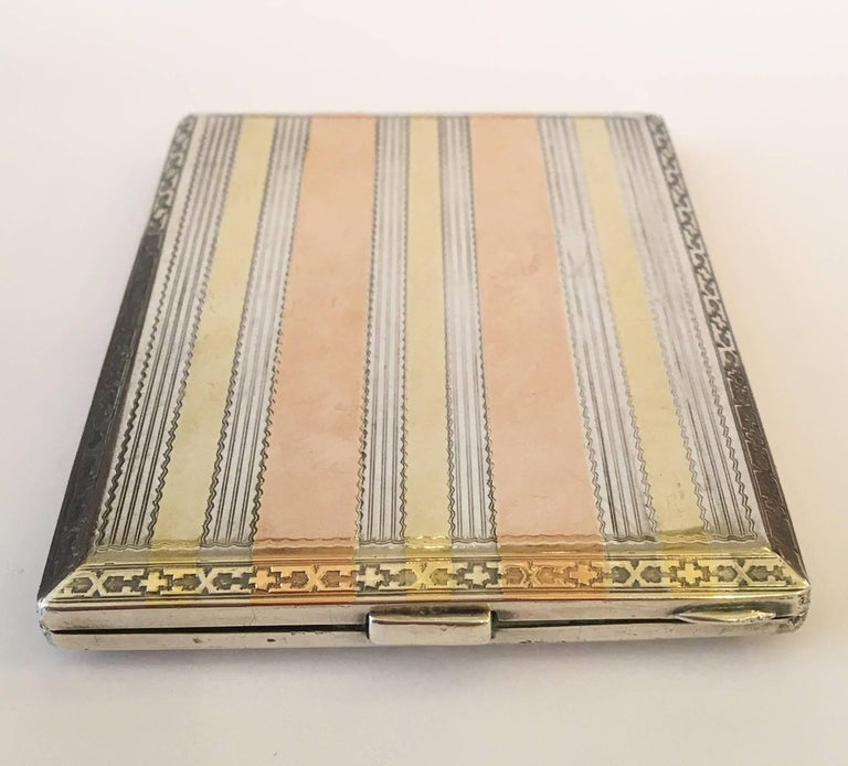 Early 20th Century Sterling Silver Hermès Cigarette Box or Business ...