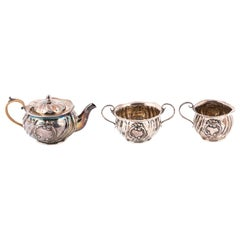 Early 20th Century Sterling Small Three-Piece Tea Set by Gorham
