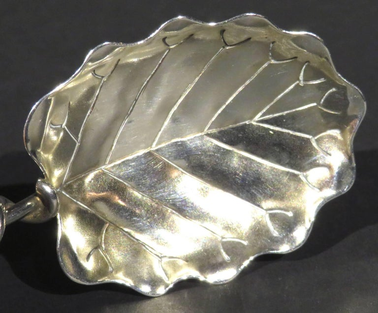 Art Nouveau Early 20th Century Sterling Silver Tea Caddy Spoon, American, circa 1900 For Sale