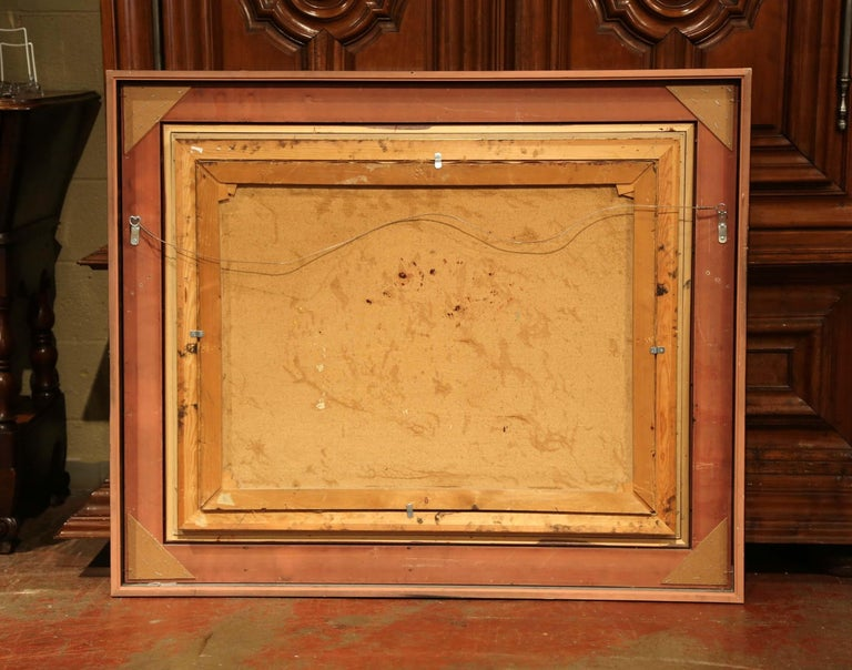 Early 20th Century Still Life Oil Painting in Gilt Frame Signed C. Fischer For Sale 2